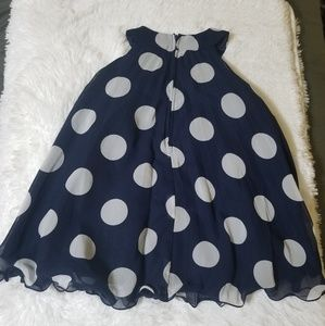 Beautiful Polka Blue White Dress T3